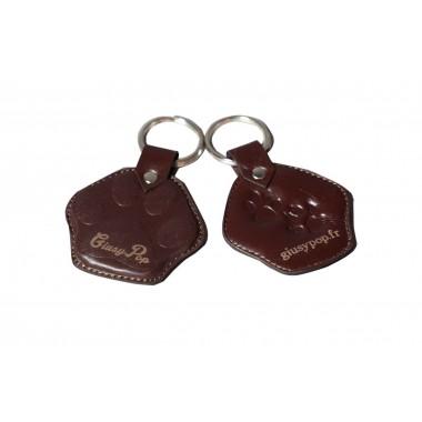Porte clé en cuir Giusypop - Fait main
