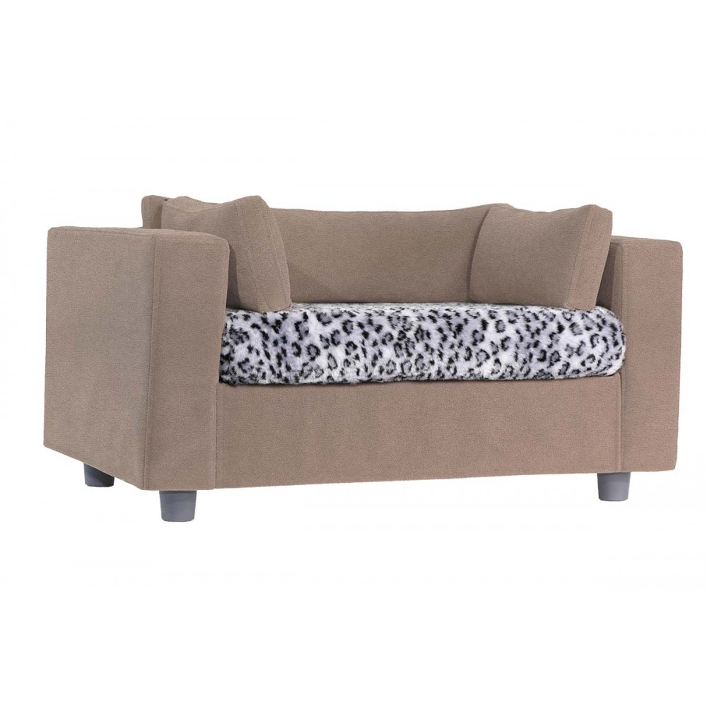 Leather Or Fabric Sofa With Cats: Pet Sofa With Plaid And Cat Toy As A Gift A Giusypop