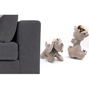 Оригинальный лежак для животных Armonia с игрушкой – В подарок: 1 брелок из натуральной кожи GiusyPop