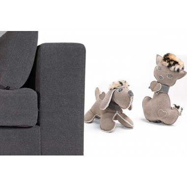 Pet sofa with a pet toy and as a gift 1 GiusyPop leather keyring