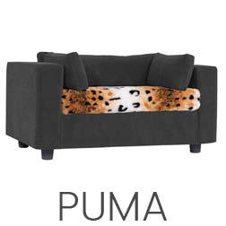 Pet sofa Grey - plaid Puma
