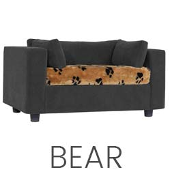 Pet sofa Grey - plaid Bear
