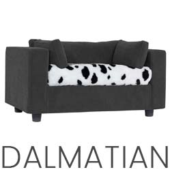 Pet sofa grey - plaid Dalmatian