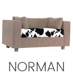 Pet sofa Taupe- plaid Norman