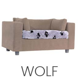 Pet sofa taupe - plaid Wolf