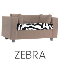 Pet sofa Taupe - plaid zebra