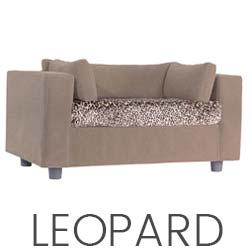 Pet sofa taupe - plaid Leopard