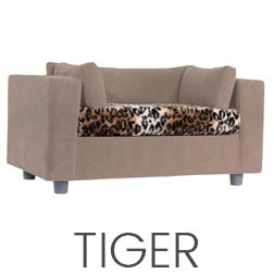Pet sofa taupe - plaid Tiger