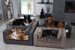 Лежак для собак со съёмным чехлом