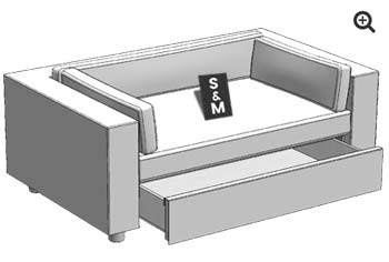 Measures of the cover for pet sofa Armonia