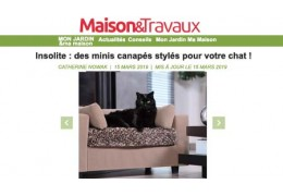 Maison&Travaux talks About Giusypop - Unusual: mini stylish sofas for your cat!